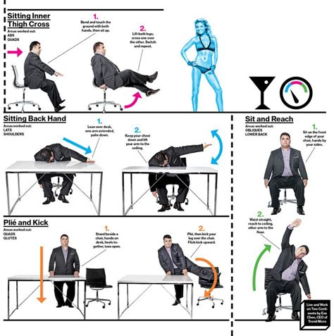 Exercise To Do At Work Fit Pinterest Exercise At Office Desk