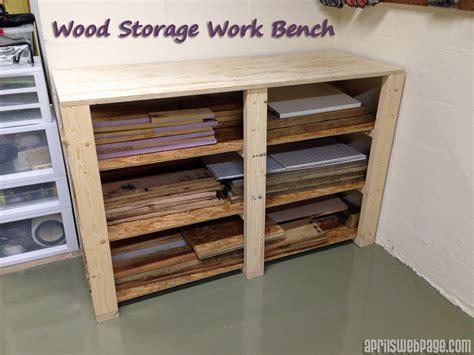 work bench with storage wood storage work bench