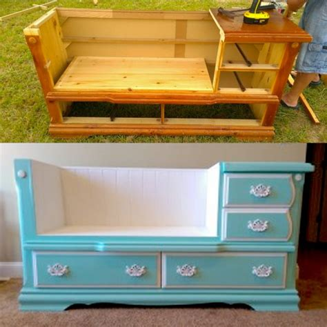 bench made from dresser absurdly cool furniture makeover before and after top