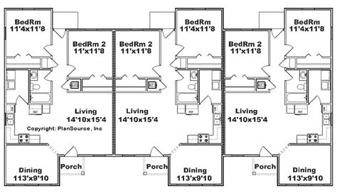 triplex floor plans triplex house plans cost cutting living