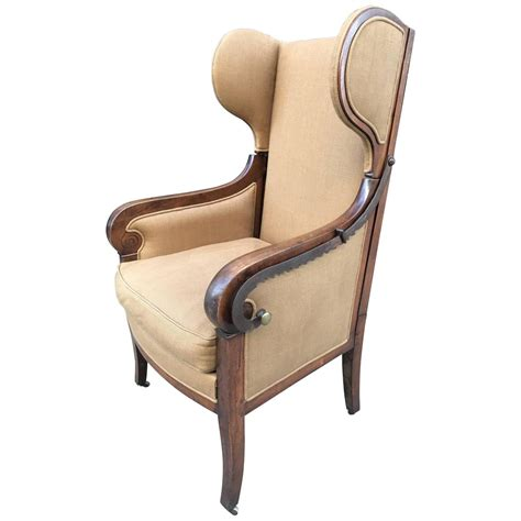 antique wingback chair antique biedermeier reclining wingback chair for sale at