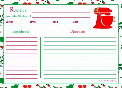 Recipe Card Template For Excel by 7 5x7 Recipe Card Template Ioayu Templatesz234