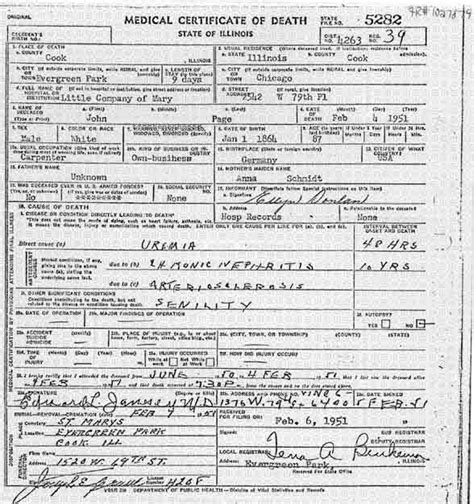 State Of Illinois Birth Records Page Genealogy Source Records