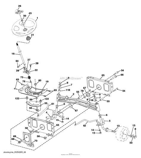 husqvarna ts     parts diagram  steering