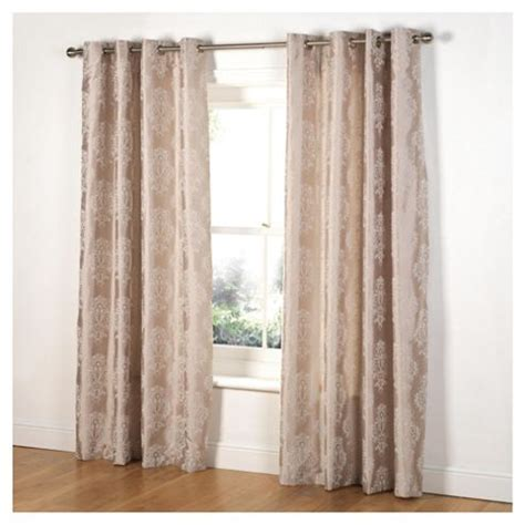 tesco eyelet curtains buy tesco flock damask lined eyelet curtains w162xl137cm