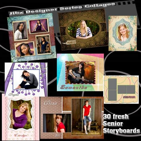 senior photo collage templates 12 free senior photoshop templates images free