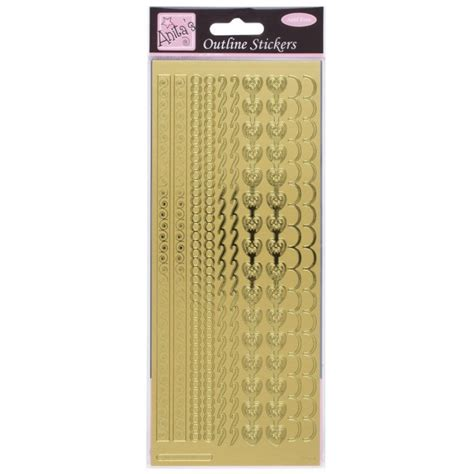 decorative border stickers outline stickers decorative borders gold outline