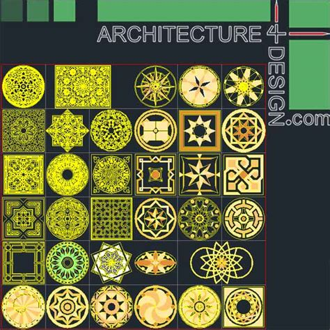 islamic pattern free dwg 77 flooring design patterns for autocad dwg file