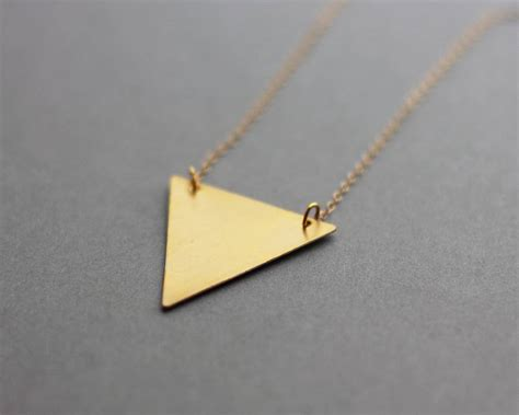 Metal Triangle Necklace metal three colour triangle necklace by fawn and