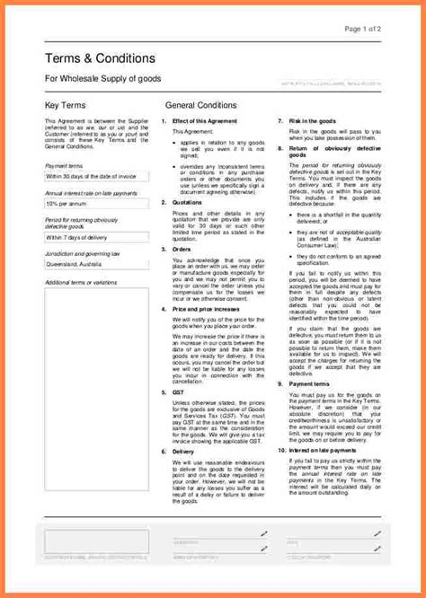 terms and conditions template for shop 7 purchase order terms and conditions template uk
