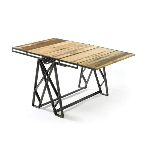 Dining Table Shelf Reclaimed Wood Convertible Shelf Table