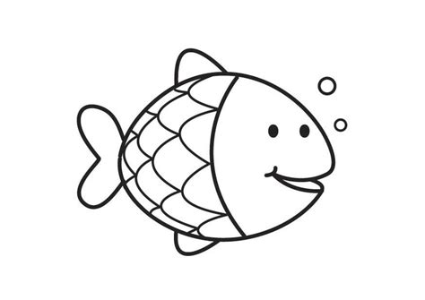 coloring page fish applique drawing pinterest