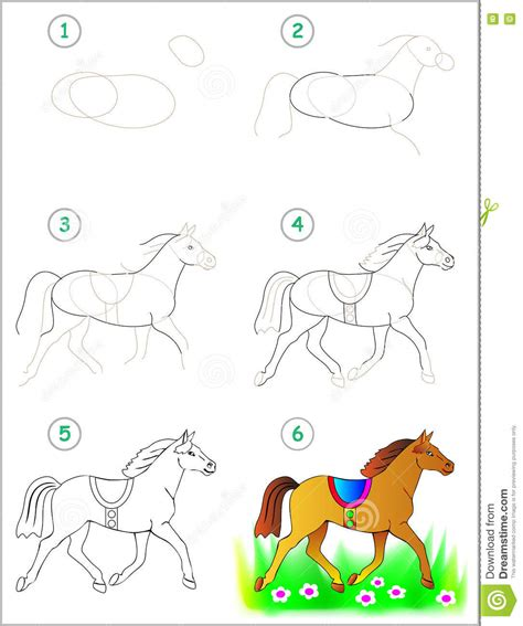 vector horse tutorial drawing tutorial how to draw a horse vector illustration