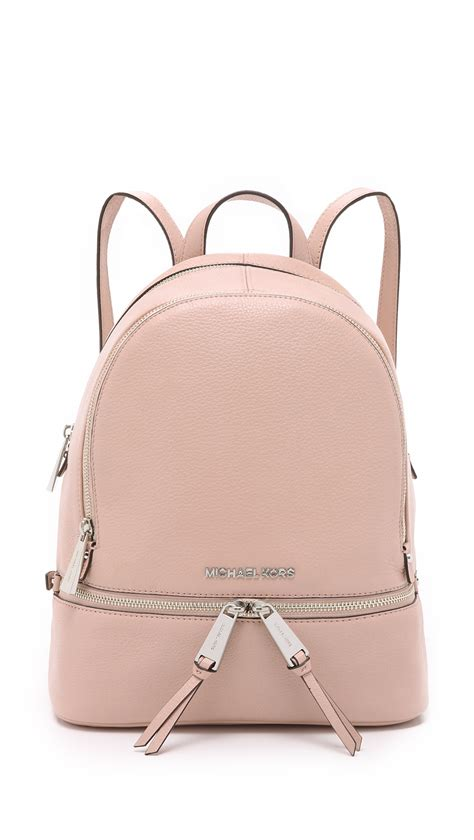 Michael Kors Rhea Backpack lyst michael michael kors rhea small backpack sky in pink