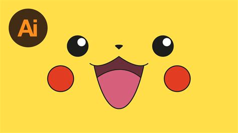 how to draw pikachu s face hellokids com learn how to draw pikachu s face in adobe illustrator