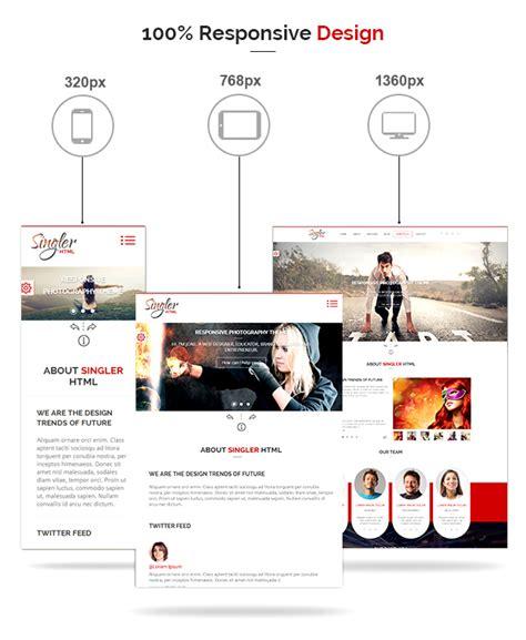 Singler Portfolio Portfolio Html Template By Kamleshyadav Themeforest Sales Portfolio Template
