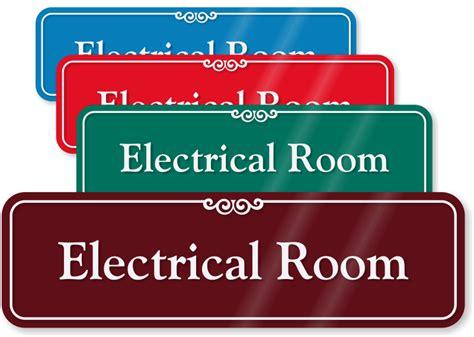 electrical room sign electrical room signs electric meter room signs