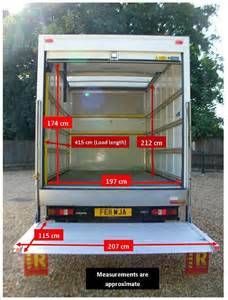 Curtain Dimensions Length By Width F Luton Transit With Tail Lift