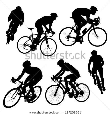 Clip Sepeda Bmx Black cyclist stock images royalty free images vectors
