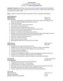 Sle Resume For Accounting Graduate With Experience Sle Accounting Student Resume 28 Images Cpa Resume Sle 2016 Writing Resume Sle Writing