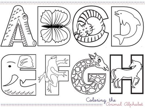 coloring pages animals alphabet 65 best images about lettering on pinterest