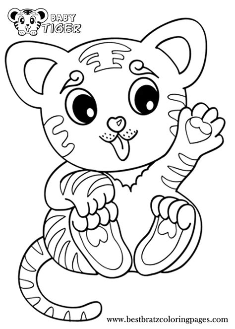 coloring pages of cute baby tigers baby tiger coloring pages bratz coloring pages