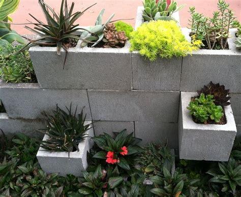 Concrete Block Planter by 3 Concrete Block Planter Wall Crafts Diy