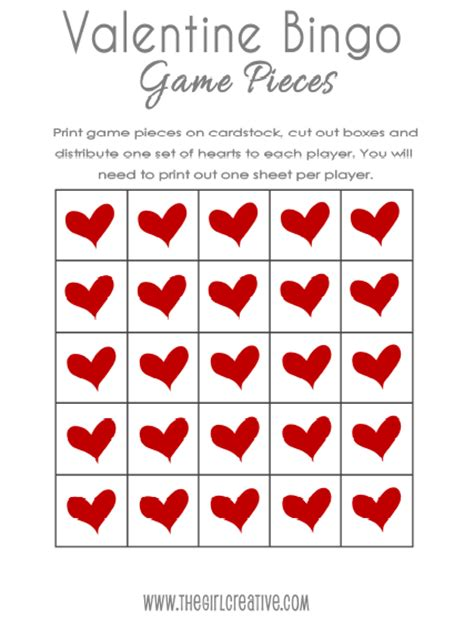 blank valentines card template s day blank bingo card