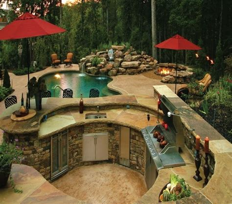 some day pool firepit bbq area it will be mine
