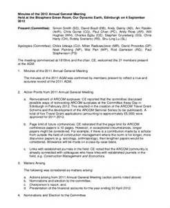 corporation annual meeting minutes template 13 construction minutes template free sle exle