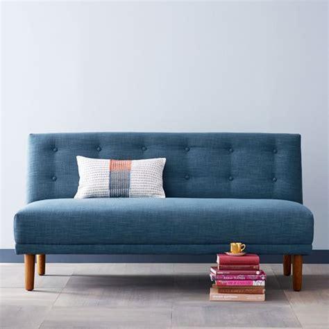 west elm armless sectional rounded retro armless sofa west elm