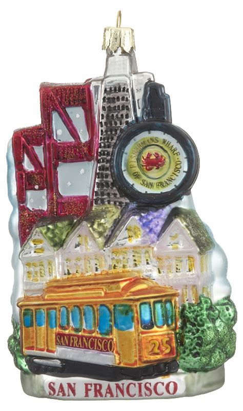 san francisco scene personalized ornament