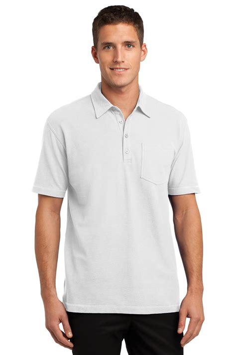 Modern Pocket Shirt port authority modern stain resistant pocket polo shirt k559 ebay