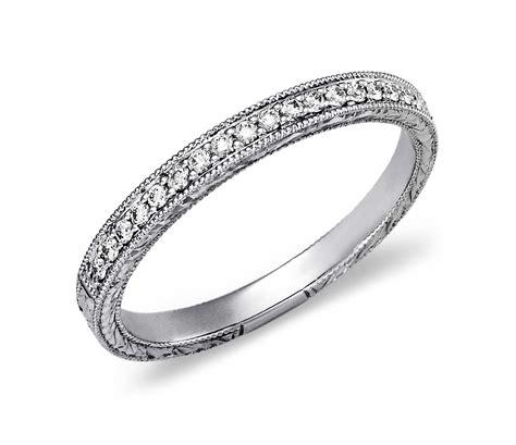 engraved micropav 233 ring in 14k white gold 1