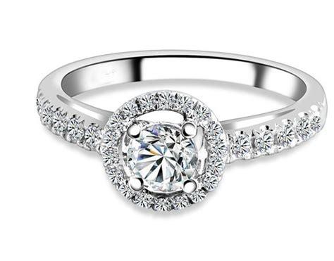 sparkling halo cheap engagement ring 1 00 carat cut