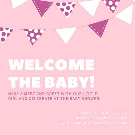 canva baby shower baby shower invitation templates canva