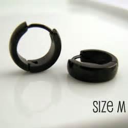 mens earring mens earrings black hoop huggie earrings for stainless