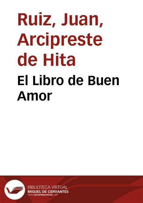 el buen amor en el libro de buen amor juan ruiz arcipreste de hita