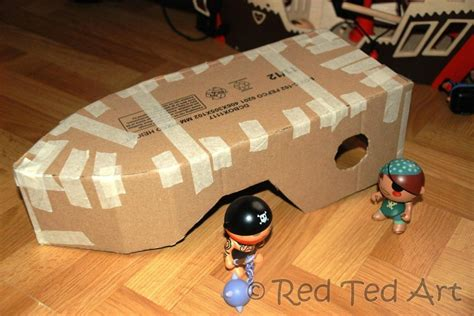 How To Make A Paper Mache Boat - how to make a diy pirate ship ted s