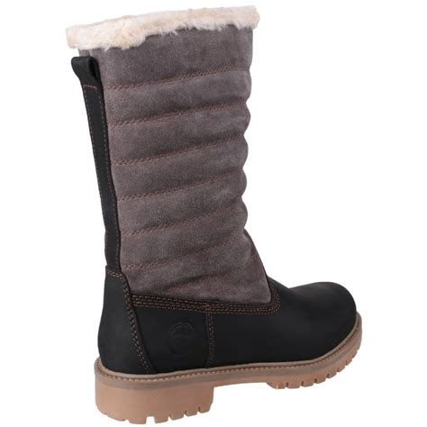 cotswold ripple zip up s black grey boots free