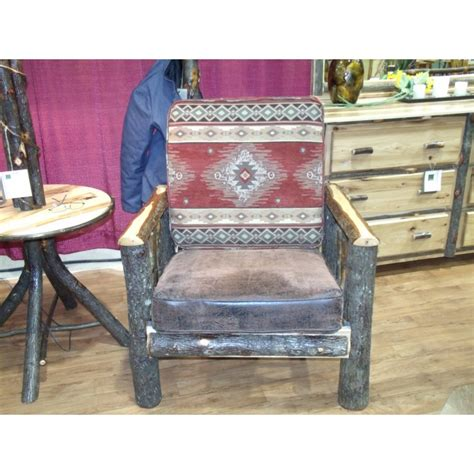 rustic leather living room furniture rustic hickory log faux leather living room chair