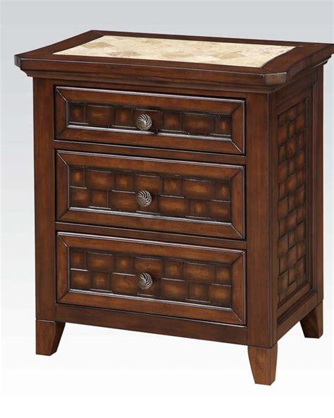 Marble Nightstand by Marble Top Nightstand Carmela By Acme Furniture Ac24783