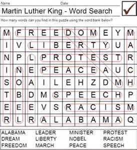 martin luther king word search printable new calendar