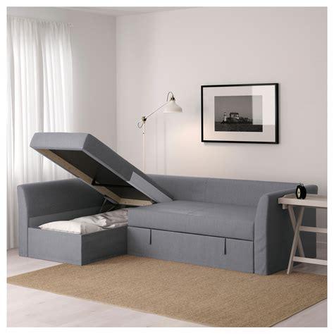 holmsund ikea holmsund corner sofa bed nordvalla medium grey ikea