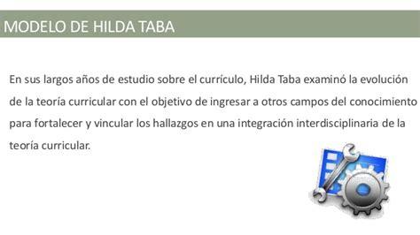 Objetivos Modelo Curricular De Hilda Taba Modelo Curricular De