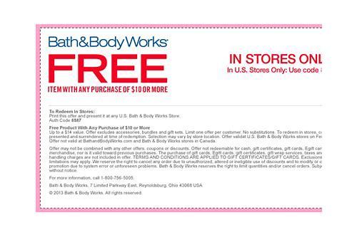 bed body works coupon code