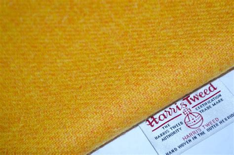 craft upholstery harris tweed fabric labels yellow mustard craft