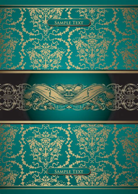 european gold pattern vector european gorgeous gold lace pattern vector free vector