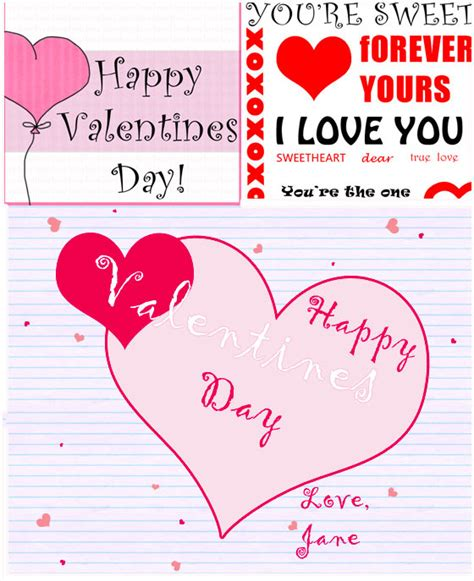 valentine cards template simple valentine s day card