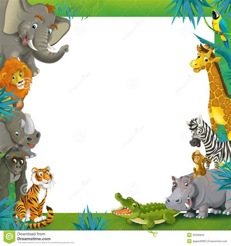 baby jungle animal border clip jungle safari border clipart